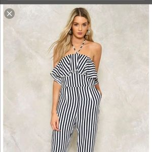 Nasty Gal - Hampton Striped Jumpsuit